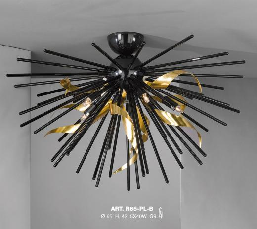 A very interesting contemporary semi-flush fitting from our collection. This piece stands out and draws the eye.
