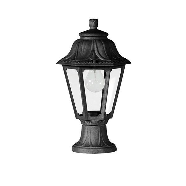 Fumagalli Anna Mini Lot Outdoor Pedestal Light Black